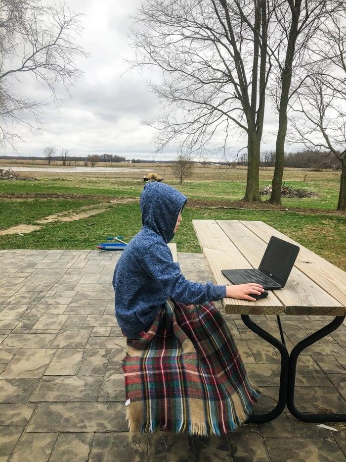 school work outside