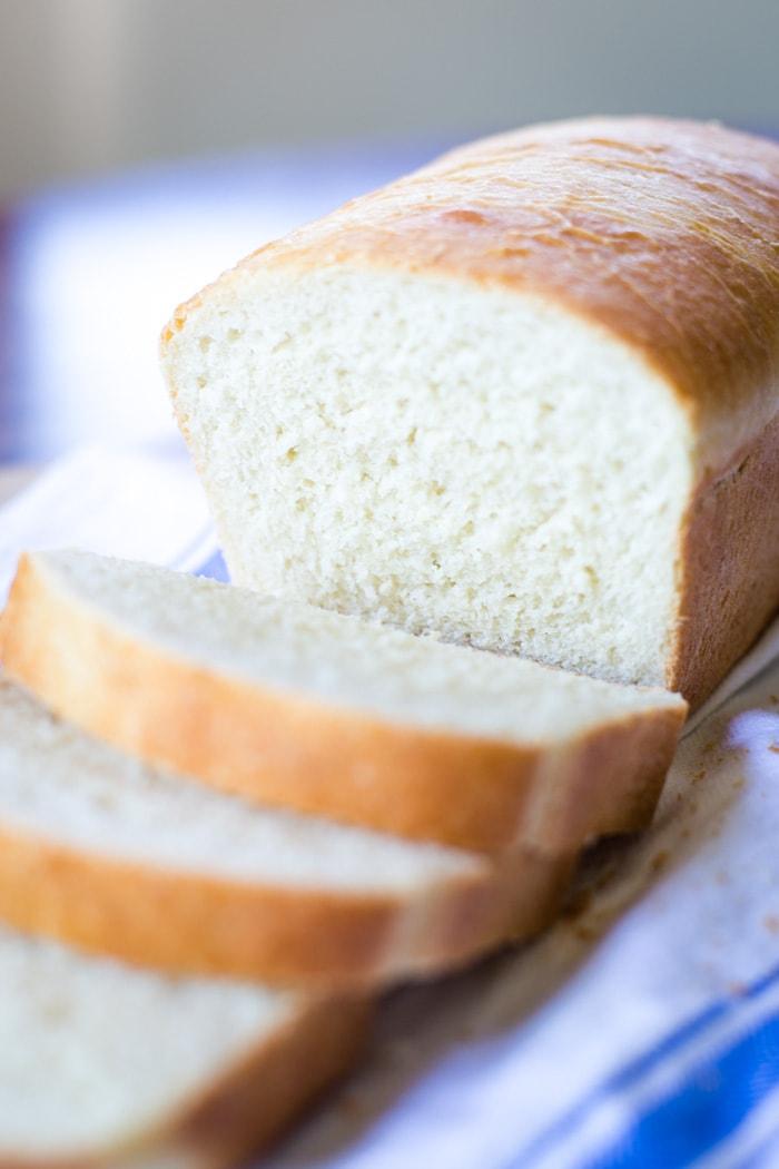 homemade bread sliced