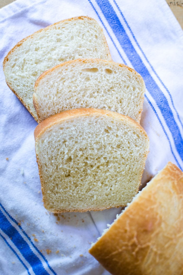 slices of homemade bread