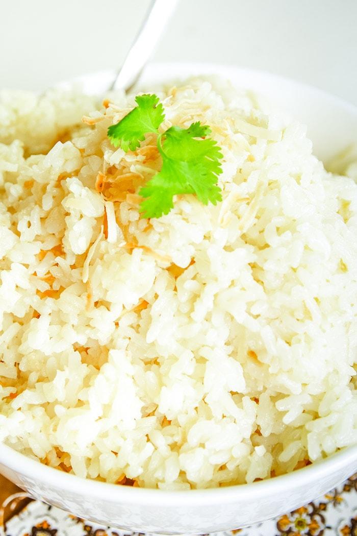 coconut rice in bowl