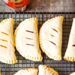 baked fry pies on cooling rack