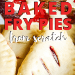 baked fry pies on cookie sheet
