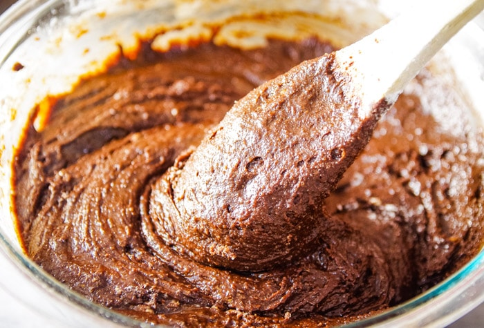 brownie batter made from scratch