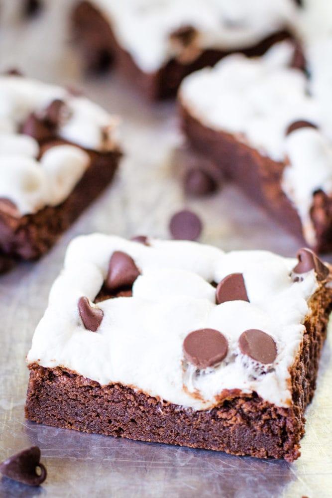 one marshmallow brownie