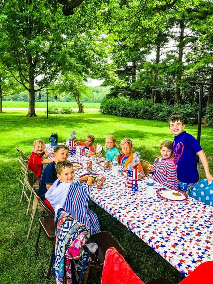kids at July 4th