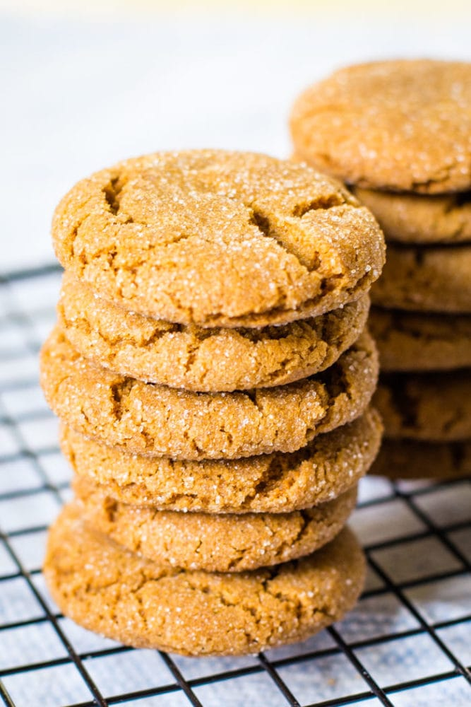 stack of ginger snaps