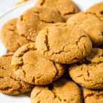 ginger snap cookies on white plate