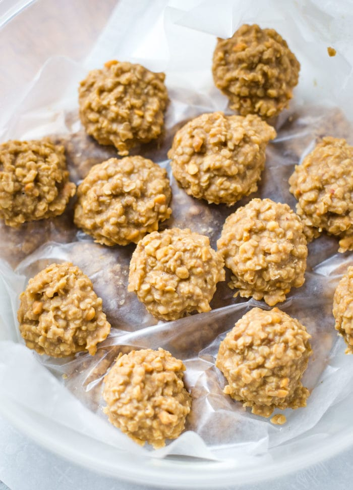 no bake cookies in storage container