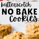 no bake cookies on wax paper with vintage recipe card