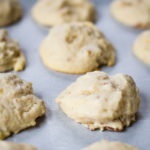 cream cheese cookies on parchment paper