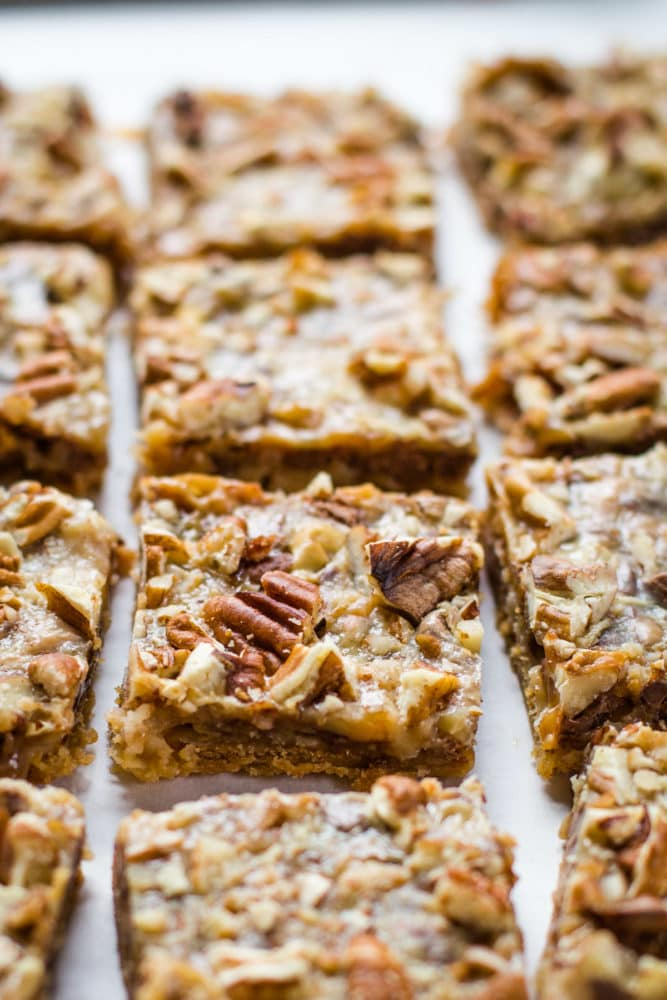 top of toffee bars