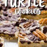 Butter Pecan Turtle bars in baking pan