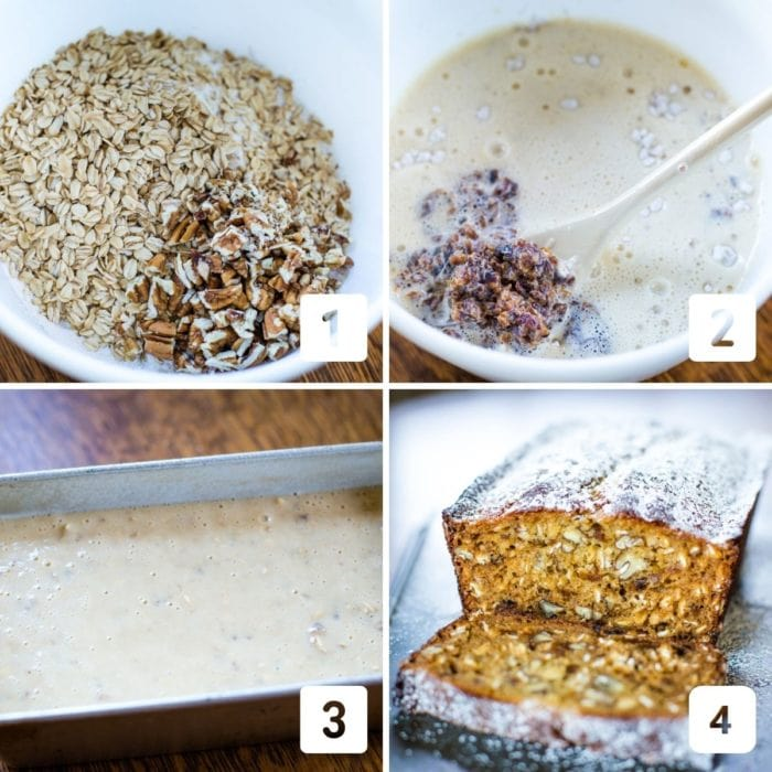 apricot bread pictures showing steps to make recipe