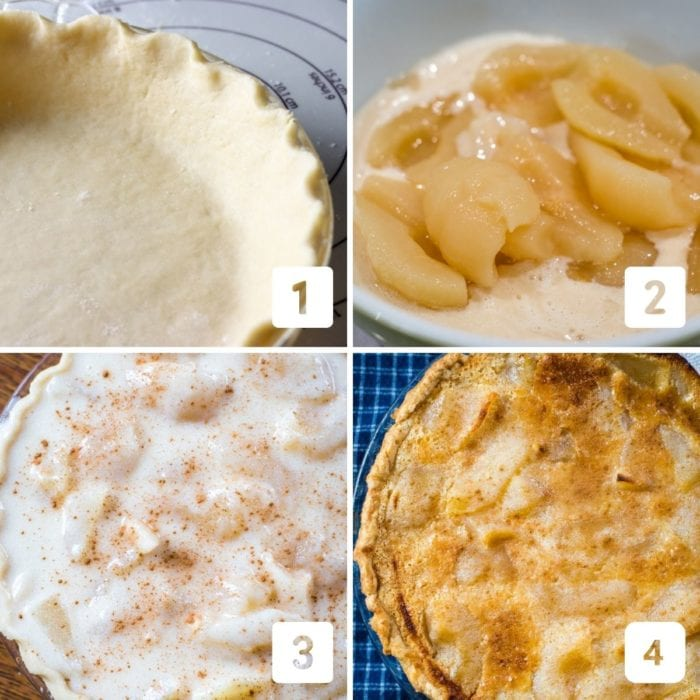 custard pear pie step by step photos on how to make the pie