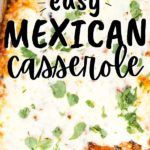 Mexican Casserole in Baking Dish