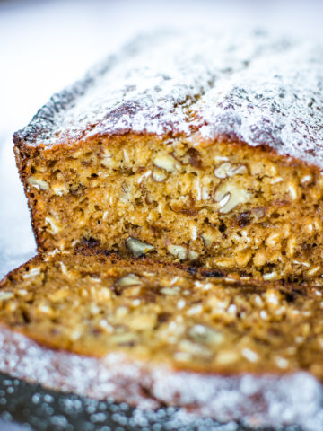 apricot bread on baking pan