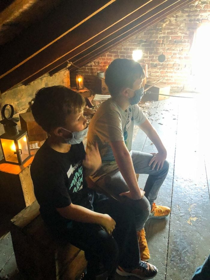 Boys at Shrive Museum