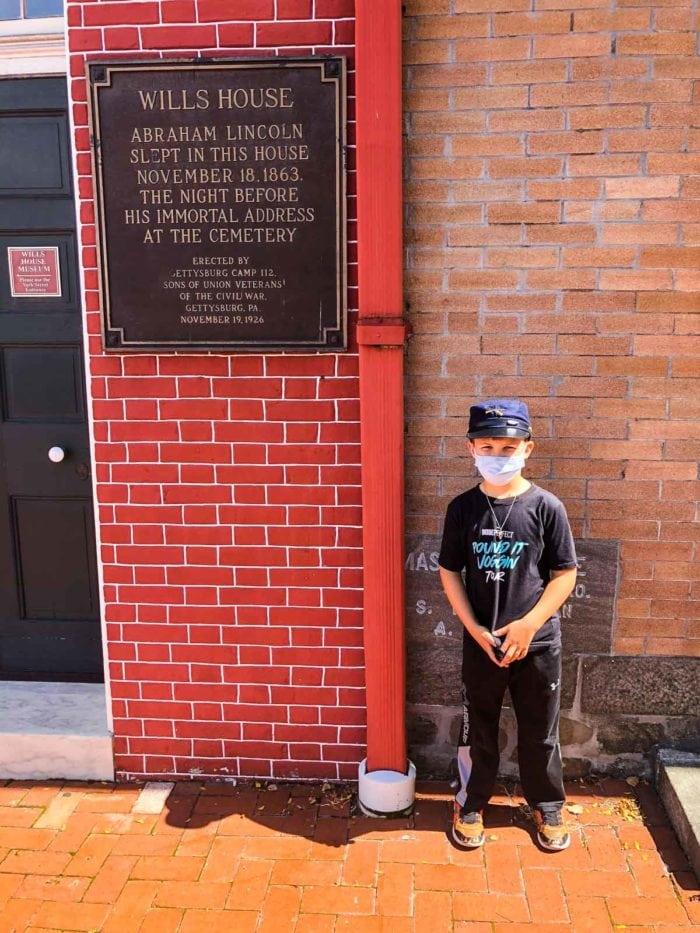 Boy in Downtown Gettysburg