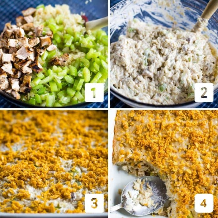 step by step picture of making casserole