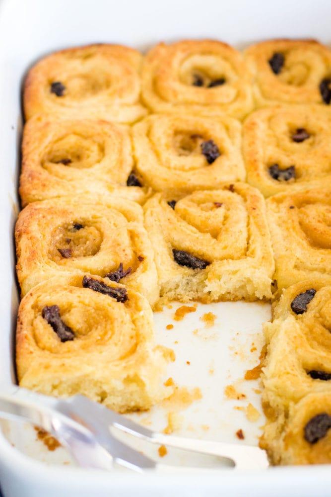baked danish pastries