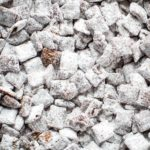 puppy chow on baking sheet