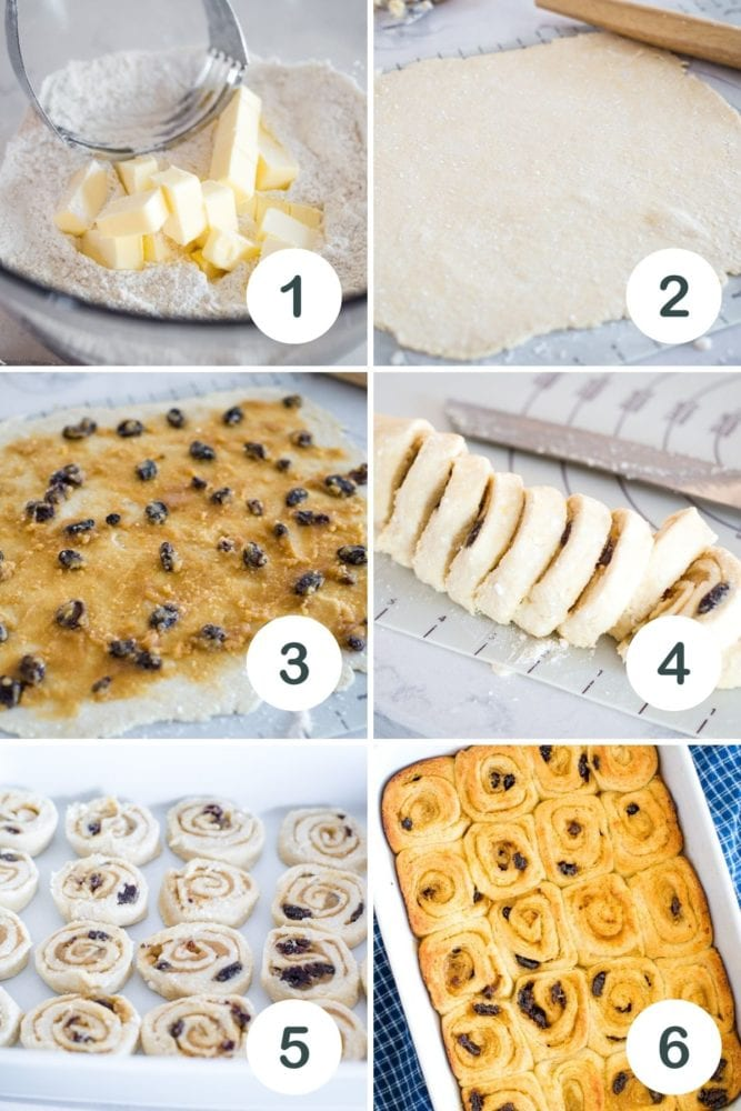 step by step photo of danish pastries