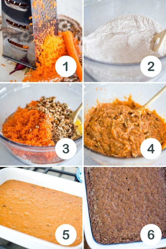 step by step pictures on how to make carrot cake