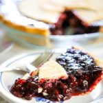 berry pie on plate