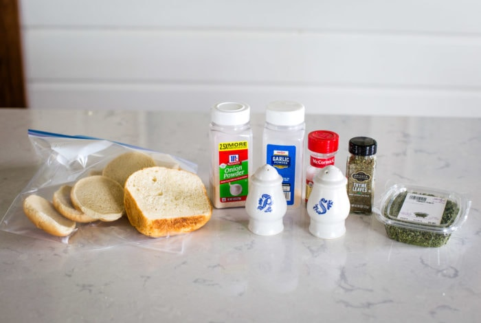 ingredients for homemade bread crumbs