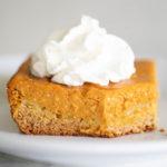slice of pumpkin gooey butter cake